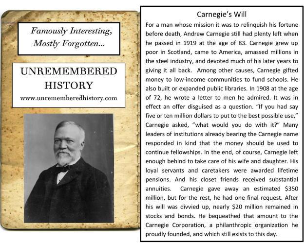 Carnegie'sWill