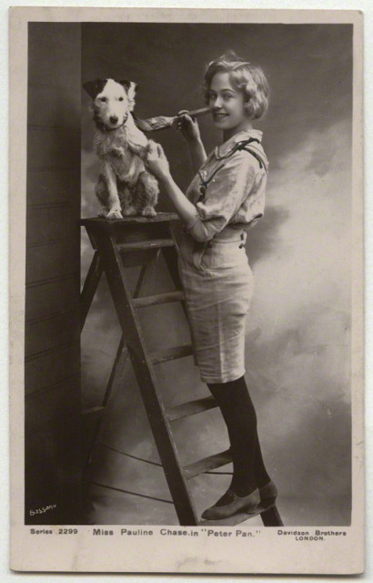 NPG x6002; Pauline Chase as Peter Pan in 'Peter Pan' by Bassano, published by  Davidson Brothers